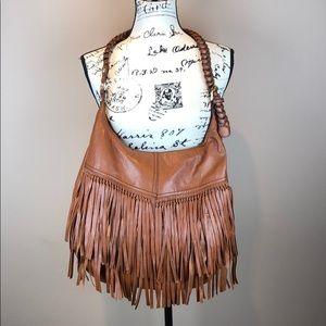 H&M Faux Leather Fringe Boho Bag